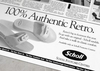 Scholl Ad Series